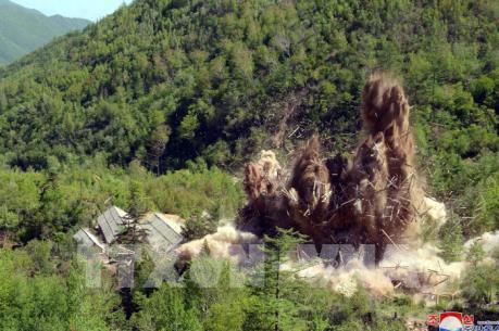 Triều Tiên công bố những hình ảnh phá bỏ bãi thử hạt nhân Punggye-ri