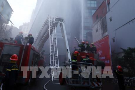 Diễn tập cứu 240 người bị mắc kẹt tại chung cư cao tầng