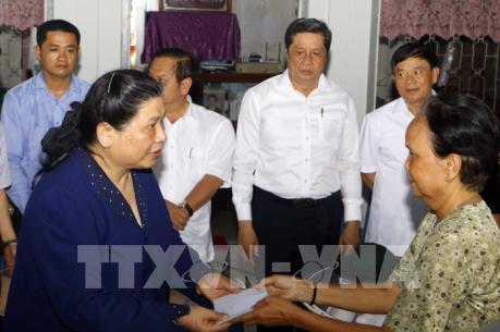 Phó Chủ tịch Thường trực Quốc hội Tòng Thị Phóng khảo sát sạt lở ở quận Ô Môn, Cần Thơ