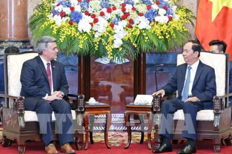 Chủ tịch nước Trần Đại Quang tiếp Thượng nghị sĩ Hoa Kỳ Cory Gardner