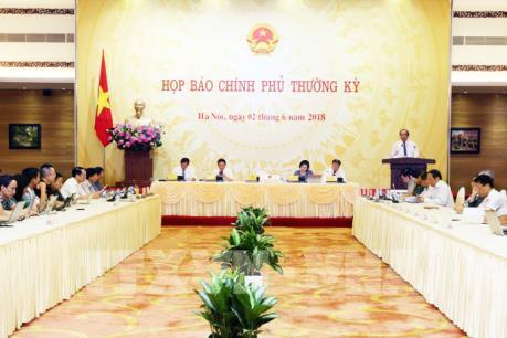 Nhiều vấn đề được giải đáp tại cuộc họp báo Chính phủ tháng 5