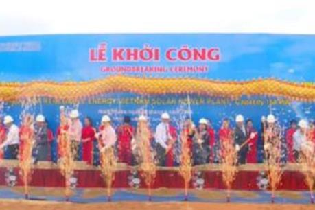 Ninh Thuận khởi công xây dựng nhà máy điện mặt trời quy mô lớn nhất Việt Nam