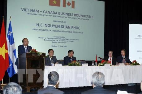 Thủ tướng Nguyễn Xuân Phúc dự Tọa đàm doanh nghiệp Việt Nam - Canada