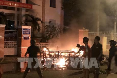 Bắt tạm giữ một số đối tượng quá khích, gây rối trật tự xã hội tại Bình Thuận