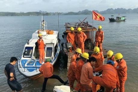 Khắc phục sự cố cáp điện tại đảo Cô Tô, Vân Đồn