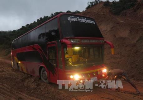 Mưa lớn làm ách tắc nghiêm trọng trên Quốc lộ 279 tại Lào Cai