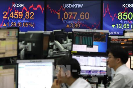 Thị trường chứng khoán châu Á đều giảm điểm