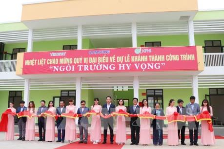 """Khánh thành """"Trường học hy vọng Sam Sung"""" tại Thái Nguyên"""