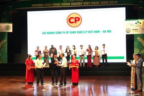 Vinh danh 85 thương hiệu nông nghiệp Việt Nam năm 2018
