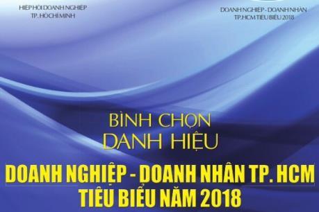 Tp. Hồ Chí Minh bình chọn doanh nghiệp, doanh nhân tiêu biểu năm 2018