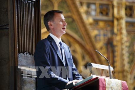 Thủ tướng Anh bổ nhiệm ông Jeremy Hunt làm ngoại trưởng
