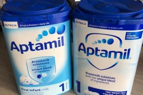 Điều tra chất lượng sản phẩm sữa công thức mới Aptamil