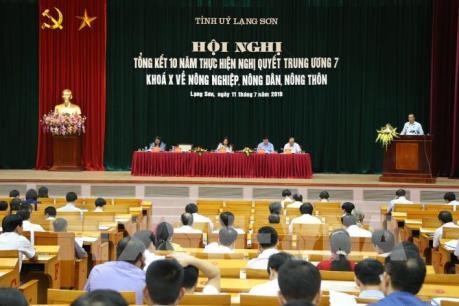 Lạng Sơn tổng kết 10 năm thực hiện Nghị quyết Trung ương 7 khóa X