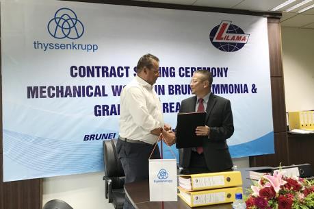 Lilama chế tạo, lắp đặt thiết bị kết cấu thép nhà máy phân bón tại Brunei
