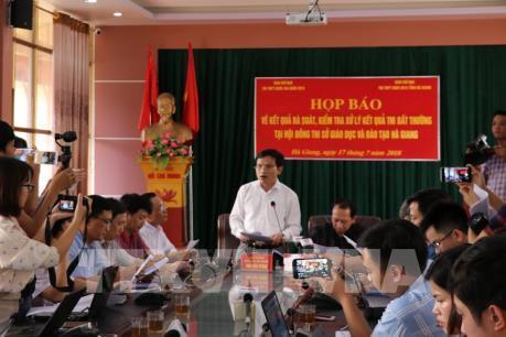 Hà Giang sẽ xử lý nghiêm các sai phạm trong vụ kết quả thi THPT bất thường