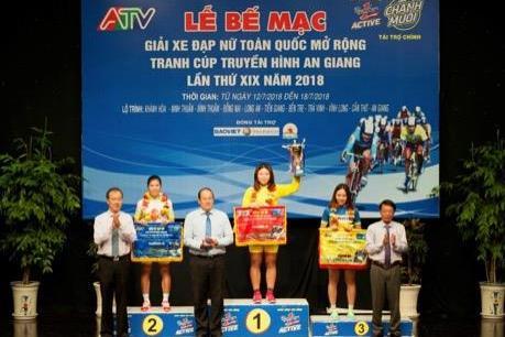 Kết thúc giải đua xe đạp nữ do Tập đoàn Tân Hiệp Phát tài trợ