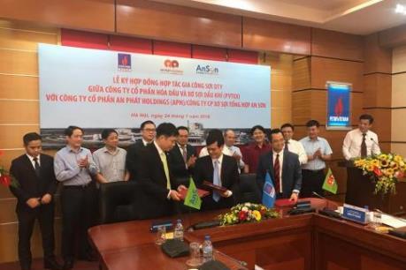 PVTEX và An Sơn ký hợp đồng hợp tác gia công sợi DTY