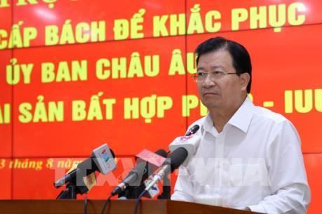 """Nhanh chóng tháo gỡ """"thẻ vàng"""" cho thủy sản Việt Nam"""