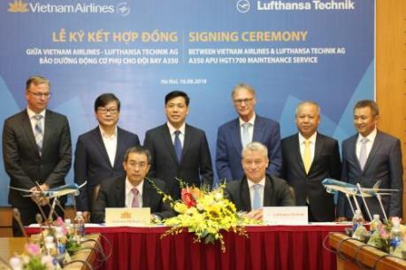 Vietnam Airlines ký hợp đồng bảo dưỡng động cơ phụ cho tàu bay Airbus A350