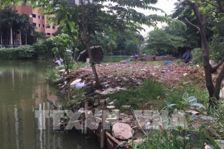 Phản hồi tin của TTXVN: Hà Nội yêu cầu làm rõ thông tin lấn chiếm hồ Ngòi