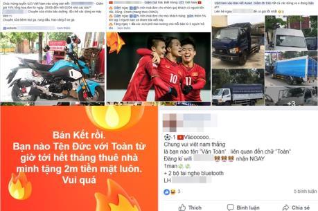 Bão giảm giá, khuyến mại mừng U23 Việt Nam vào bán kết Asiad 2018