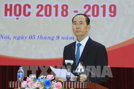 Chủ tịch nước Trần Đại Quang dự Lễ Khai giảng năm học 2018- 2019