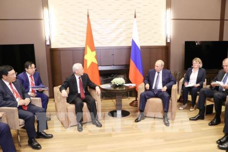 Tổng Bí thư Nguyễn Phú Trọng hội đàm với Tổng thống Liên bang Nga Vladimir Putin