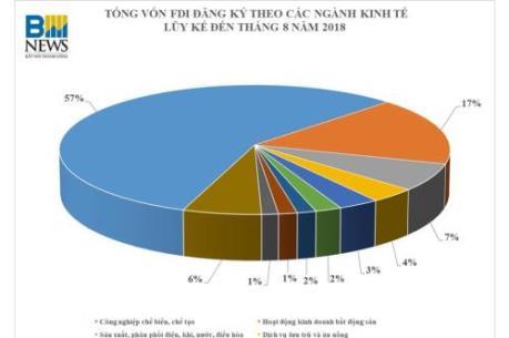 Cơ cấu FDI đầu tư tại Việt Nam 30 năm qua