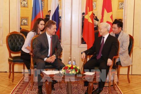 Tổng Bí thư Nguyễn Phú Trọng tiếp lãnh đạo các tập đoàn hàng đầu của LB Nga