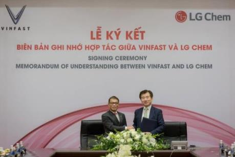 VinFast và LG Chem hợp tác làm pin chuẩn quốc tế, thân thiện môi trường