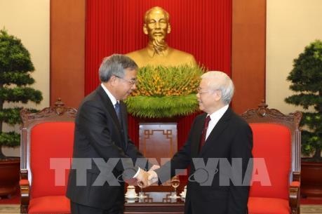 Tổng Bí thư tiếp Phó Thủ tướng Quốc vụ viện nước Cộng hòa Nhân dân Trung Hoa