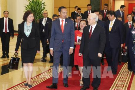 Tổng Bí thư tiếp Tổng thống nước Cộng hòa Indonesia Joko Widodo