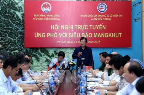 Phó Thủ tướng chủ trì hội nghị trực tuyến ứng phó siêu bão Mangkhut