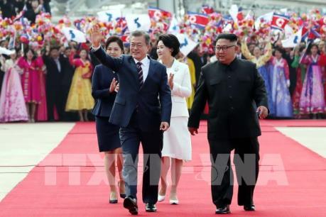 Những hình ảnh mới nhất về cuộc gặp thượng đỉnh liên Triều