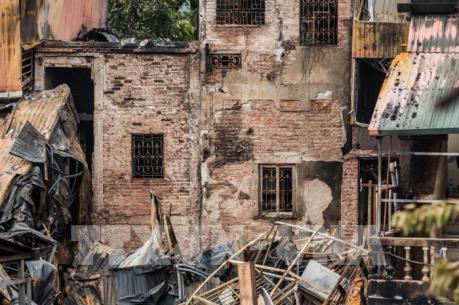 19 căn nhà, 31 hộ dân bị ảnh hưởng trong vụ cháy gần Viện Nhi