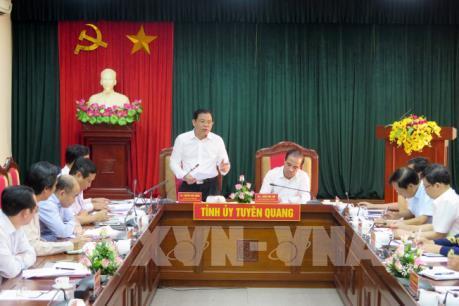 Bộ trưởng Bộ NN&PTNT làm việc tại Tuyên Quang