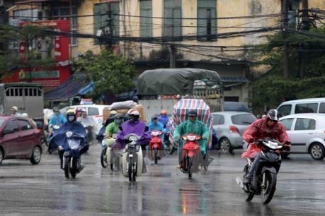 Dự báo thời tiết 3 ngày tới: Hà Nội mưa rào, rải rác có dông