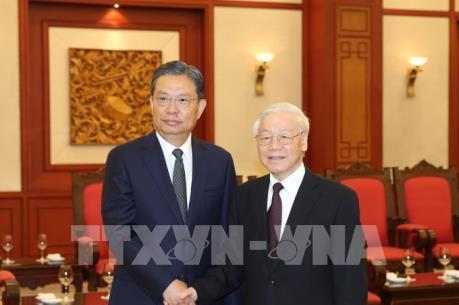 Tổng Bí thư Nguyễn Phú Trọng tiếp đồng chí Triệu Lạc Tế