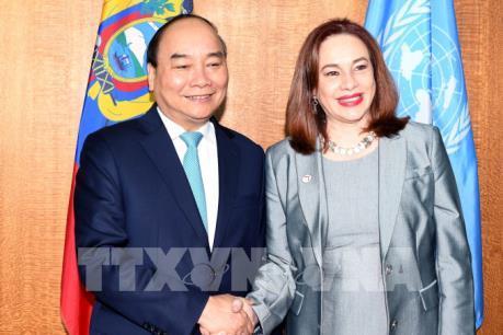 Thủ tướng Nguyễn Xuân Phúc gặp Chủ tịch Đại hội đồng và Tổng Thư ký LHQ