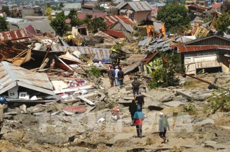 Đảo Sulawesi của Indonesia hứng chịu 3 cơn sóng thần cao hơn 11 m