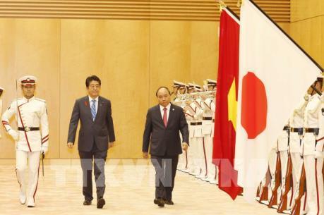 Lễ đón chính thức Thủ tướng Nguyễn Xuân Phúc tại thủ đô Tokyo, Nhật Bản