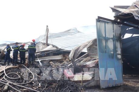 Cháy lớn tại Khu công nghiệp Phú Tài, Bình Định