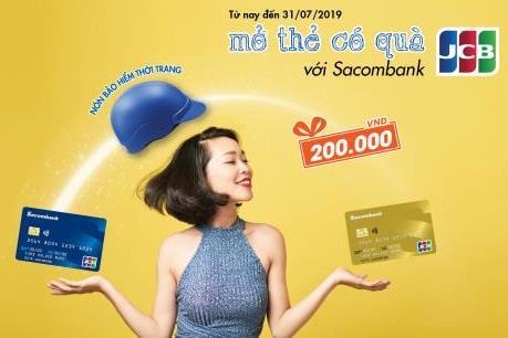 Ưu đãi đặc biệt cho khách hàng mở thẻ Sacombank JCB