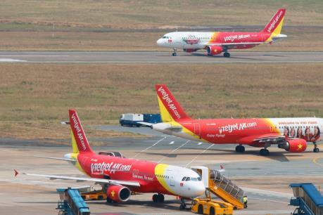 Nhiều chuyến bay của Vietjet bị ảnh hưởng do áp thấp nhiệt đới