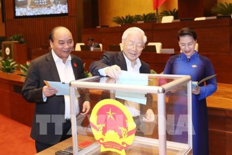 Quốc hội công bố kết quả lấy phiếu tín nhiệm