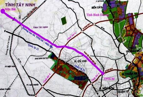 Đề xuất hơn 10.000 tỷ làm cao tốc Tp. Hồ Chí Minh - Mộc Bài