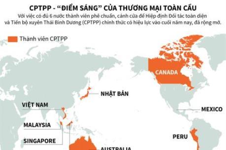 """CPTPP - """"điểm sáng"""" của thương mại toàn cầu"""