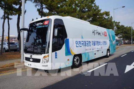 Hàn Quốc thử nghiệm thành công xe buýt tự lái ở sân bay