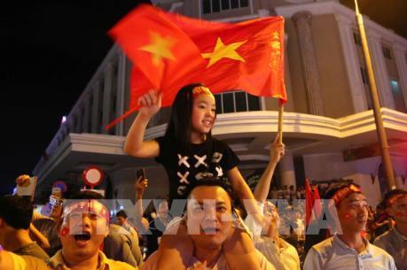 Hà Nội đã có một đêm không ngủ, mừng chiến thắng đội nhà