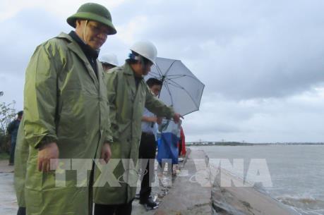 Bão số 9 gây ngập sâu ở vùng trũng Phước Nam, Ninh Thuận